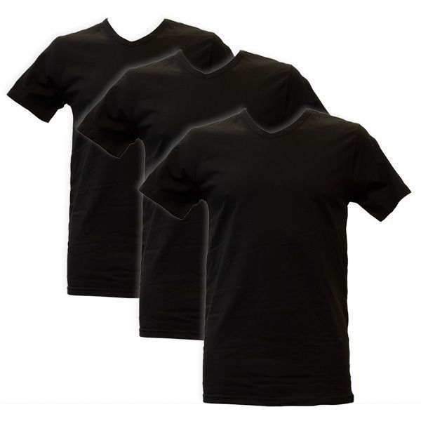 Apollo Heren T-shirts V-Neck 3-pack Black