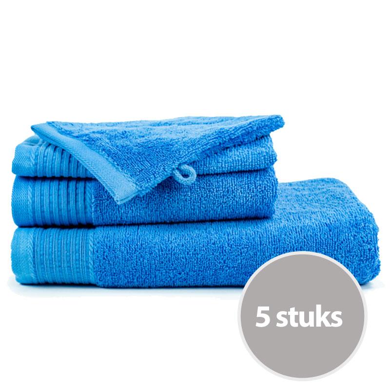 The One Badhanddoek Voordeelpakket 450 gram 70x140 cm Azure Aqua (5 stuks)
