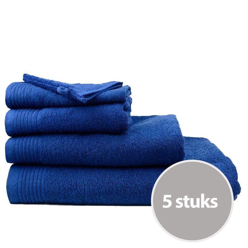 The One Badhanddoek Voordeelpakket 450 gram 70x140 cm Navy (5 stuks)
