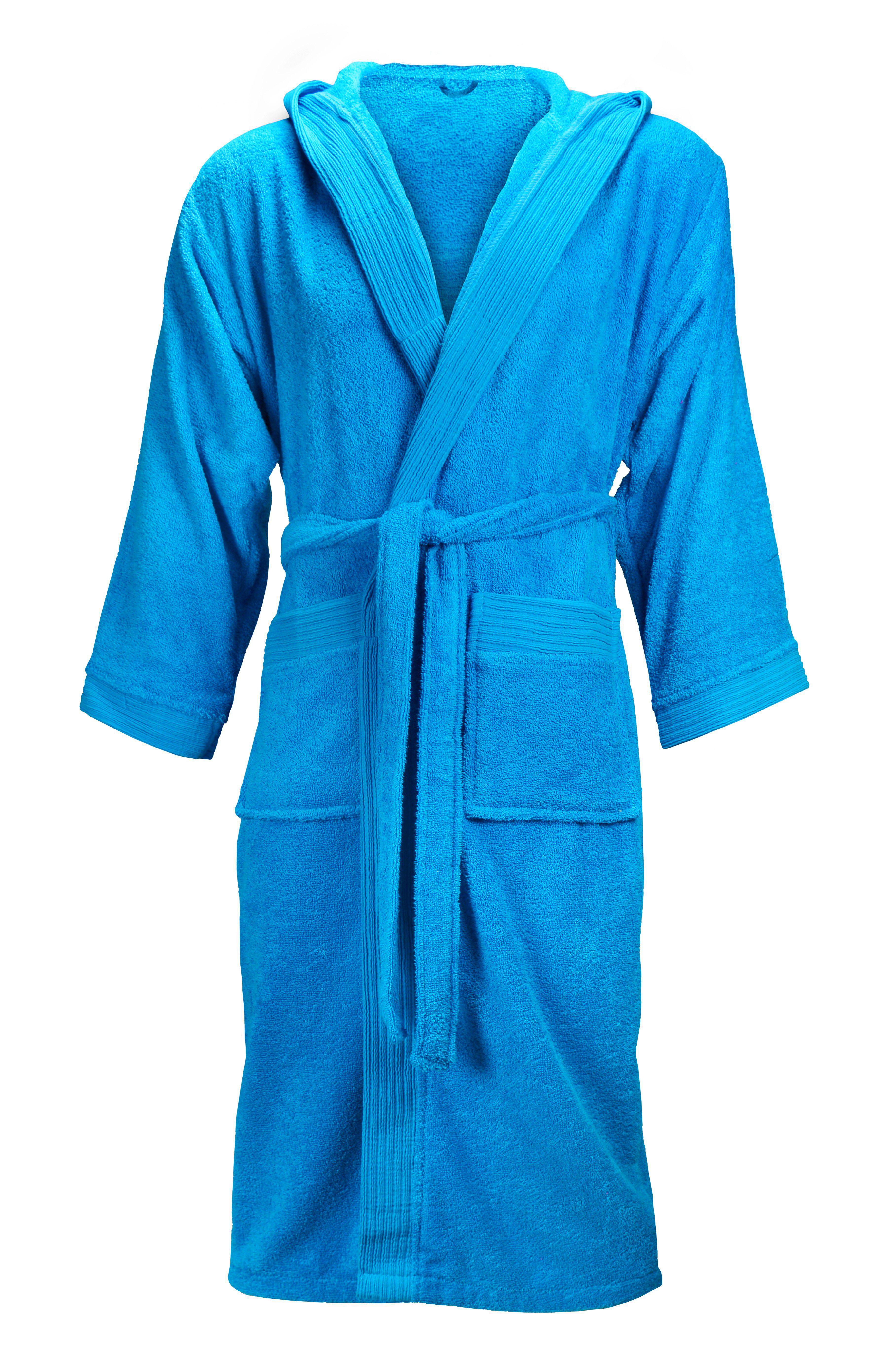 The One Badjas met capuchon 420 gram Turquoise-L/XL