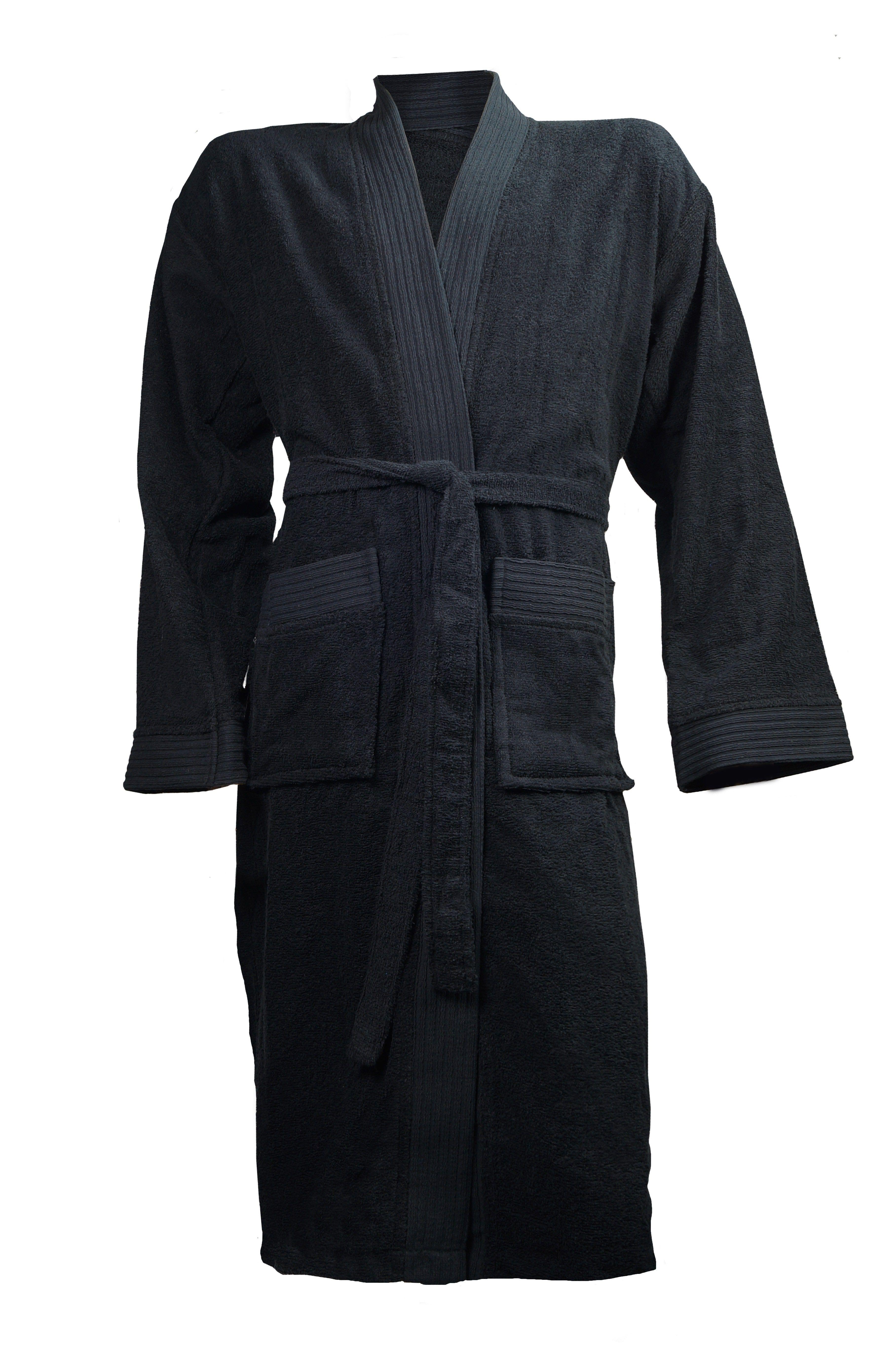 The One Badjas zonder capuchon 340 gram Zwart