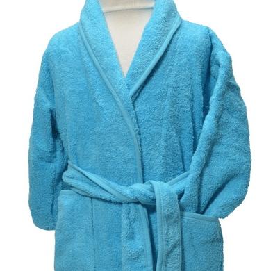 Clarysse Kimono kinderbadjas zonder capuchon Aqua 80/92