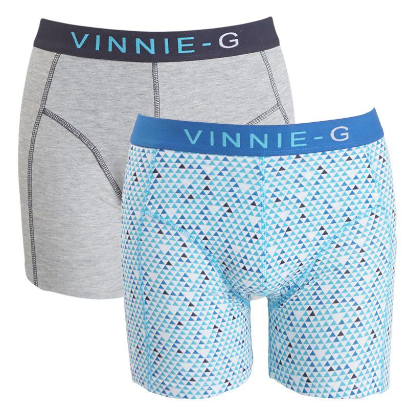 Vinnie-G boxershorts Blue Sky Light - Print 2-pack - L