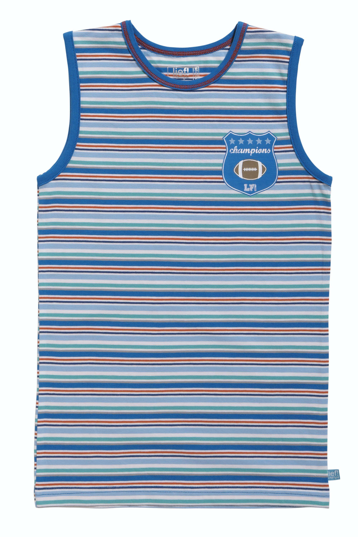 Lief! Boys Singlet 4529 Blue Stripe-74-80