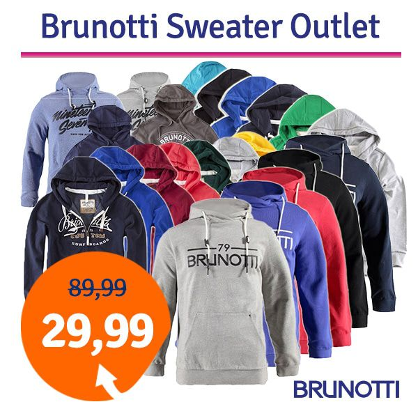 Brunotti Nace Heren Sweater Light Grey Melee M