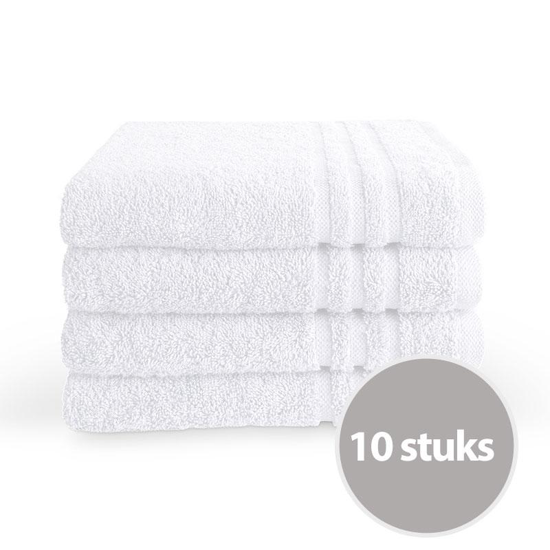 Byrklund Handdoek 50x100 cm 500gram Wit - 10 stuks