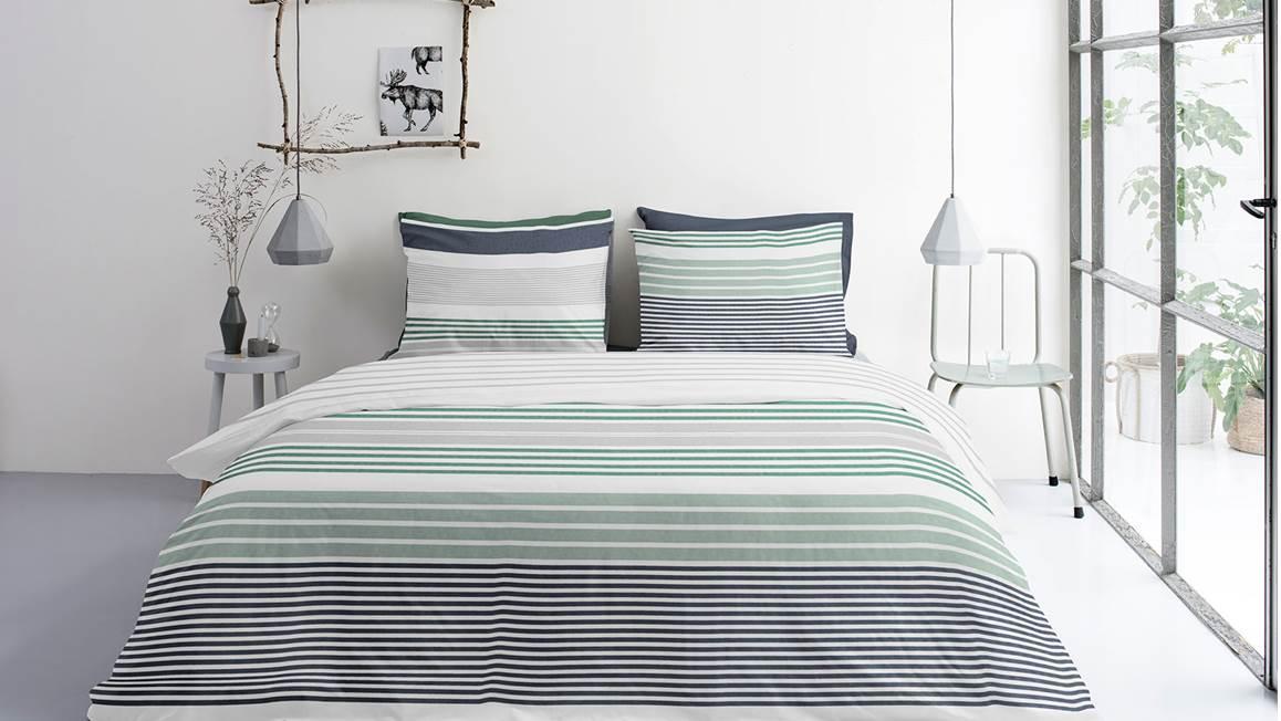BYRKLUND Dekbed Overtrek So Striped Wit, 200x220 +20+2x60x70