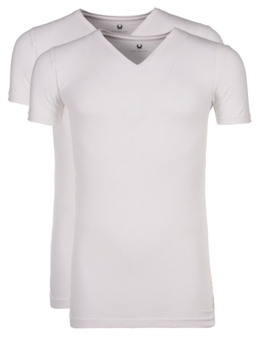 Cavello T-shirt Wit v hals-L