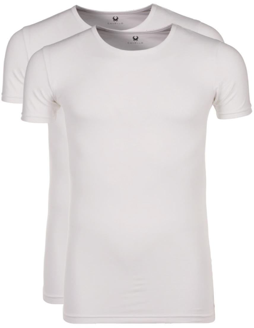 Cavello T-shirt Wit ronde hals-L