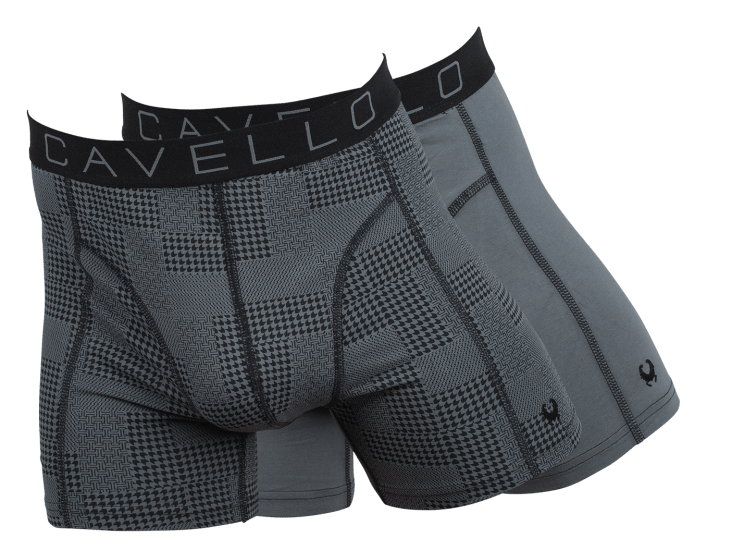Cavello Boxershorts Donkergrijs18010 2-Pack