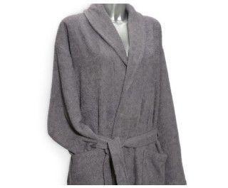Clarysse Fleece badjas met sjaalkraag Grijs-XL
