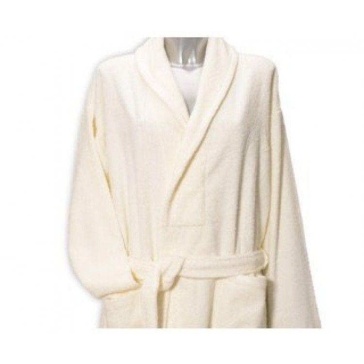 Clarysse Classic badjas met sjaalkraag Ivoor