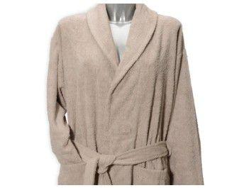 Clarysse Classic badjas met sjaalkraag Zand