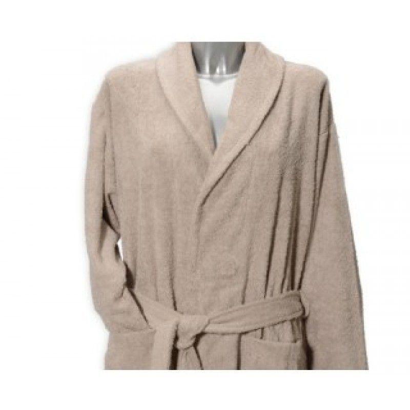 Clarysse Classic badjas met sjaalkraag Zand-S/M