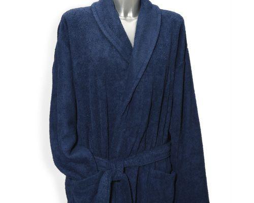 Clarysse Classic badjas met sjaalkraag Marine