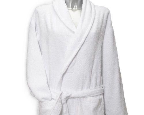 Clarysse Classic badjas met sjaalkraag Wit-L/XL
