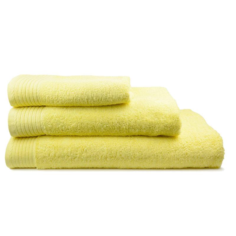 The One Handdoek 450 gram 50x100 cm Licht geel