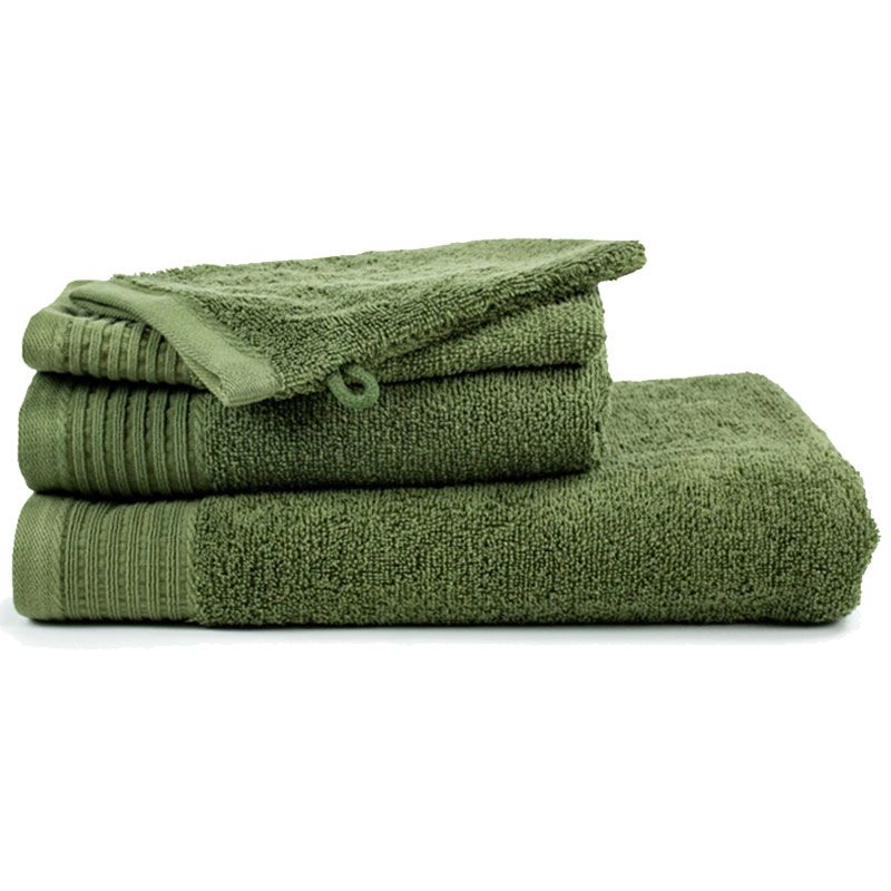 The One Handdoek 450 gram 50x100 cm Olive Green