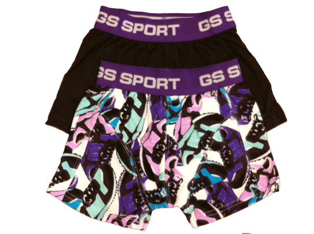 GS Sports Boys 2-pack Paars