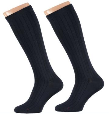 Apollo Heren Medische Compressie sokken Navy 2-pack