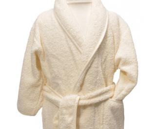 Clarysse Kimono Kinderbadjas zonder capuchon Ivoor