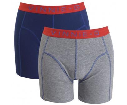 Vinnie-G boxershorts Flame Blue - Print 2-pack