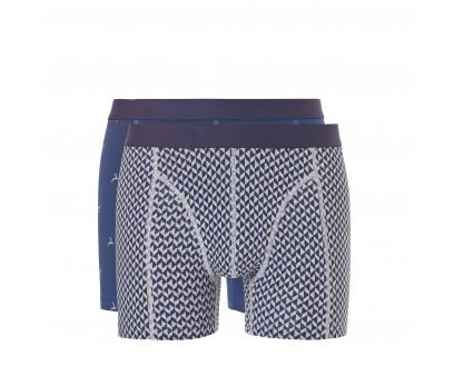 Ten Cate Men Fine Shorts Blue+Grey 2-pack