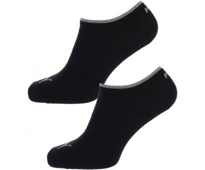 Puma - Dames Sneaker Sokken Zwart / Zilver 2-pack