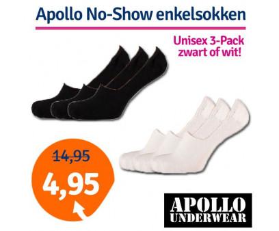 Dagaanbieding Apollo No-Show enkelsokken 3-pack