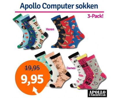 Dagaanbieding Apollo Computer sokken