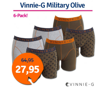Dagaanbieding Vinnie-G boxershorts Military Olive 6-pack