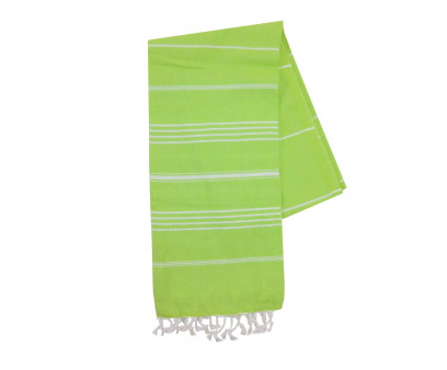 The One Towelling Hamamdoek Lime/Wit