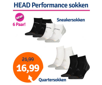 Dagaanbieding HEAD Performance Quarter- of Sneakersokken