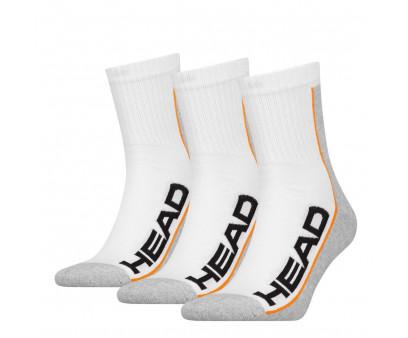 HEAD Stripe Performance Short 3-pack white/grey