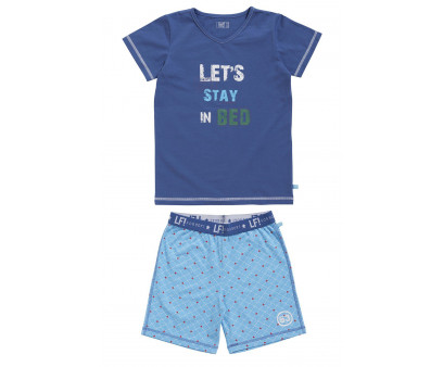 Lief! Boys shortama 40013 Blue Check