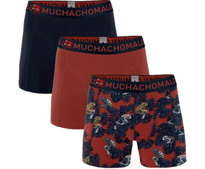 Muchachomalo Boxershorts Chame Print Red Navy 3-pack