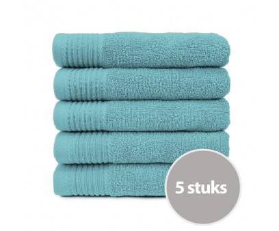 The One Handdoek 450 gram 50 x 100 cm Petrol