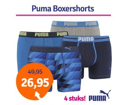 Dagaanbieding Puma boxershorts Blue combi 4-pack