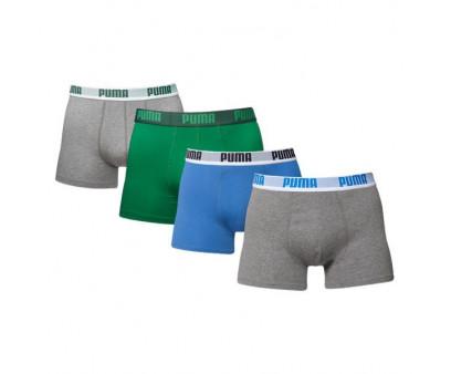 Puma boxershorts 4-pack Blue Grey Green