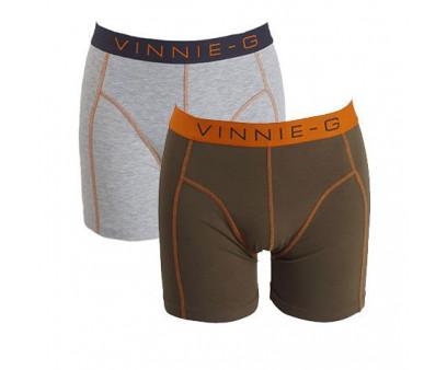 Vinnie-G boxershorts Military Olive Uni 2-pack