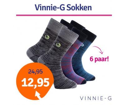 Vinnie-G 6-pack heren sokken hoog