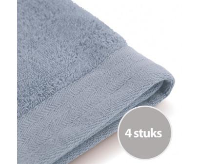 Walra Soft Cotton Gastendoek 30x50 cm 550 gram Blue - 4 stuks