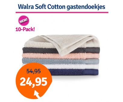 Dagaanbieding Walra Soft Cotton gastendoekjes (10 stuks)