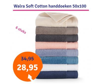 Dagaanbieding Walra Soft Cotton Voordeelpakket Handdoek 50x100 - 6 stuks