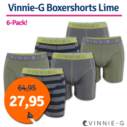 Dagaanbieding Vinnie-G boxershorts 6-pack Lime