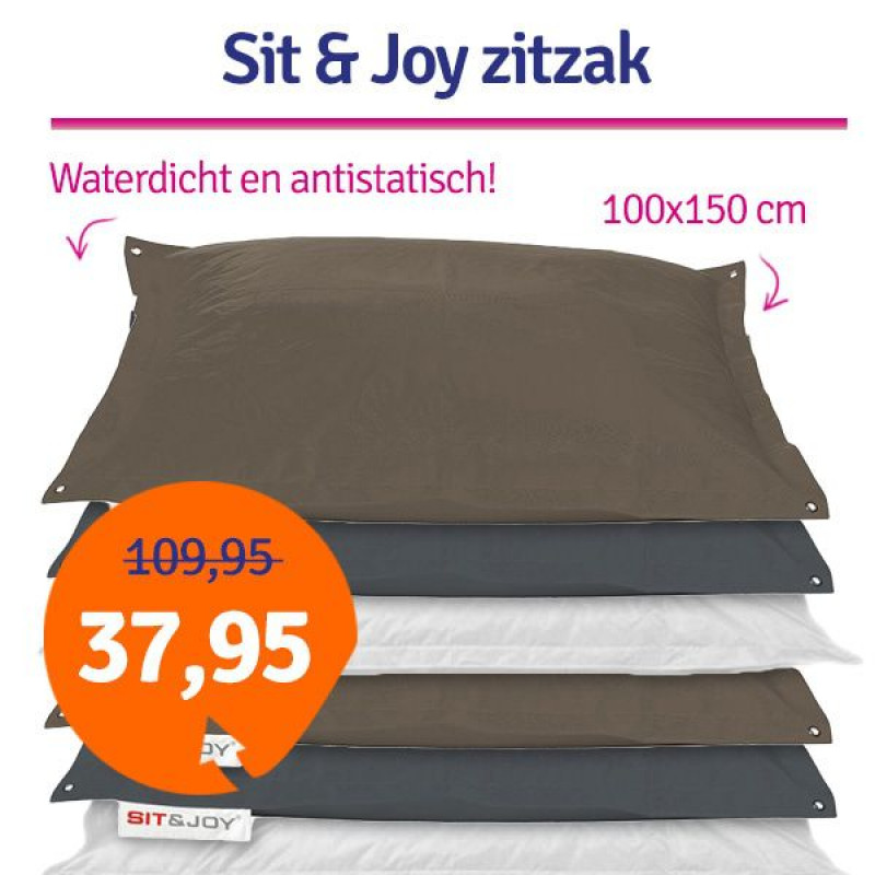 Sit Joy Zitzak 100 X 150.Dagaanbieding Sit Joy Basic Zitzak 100x150 1dagactie Nl