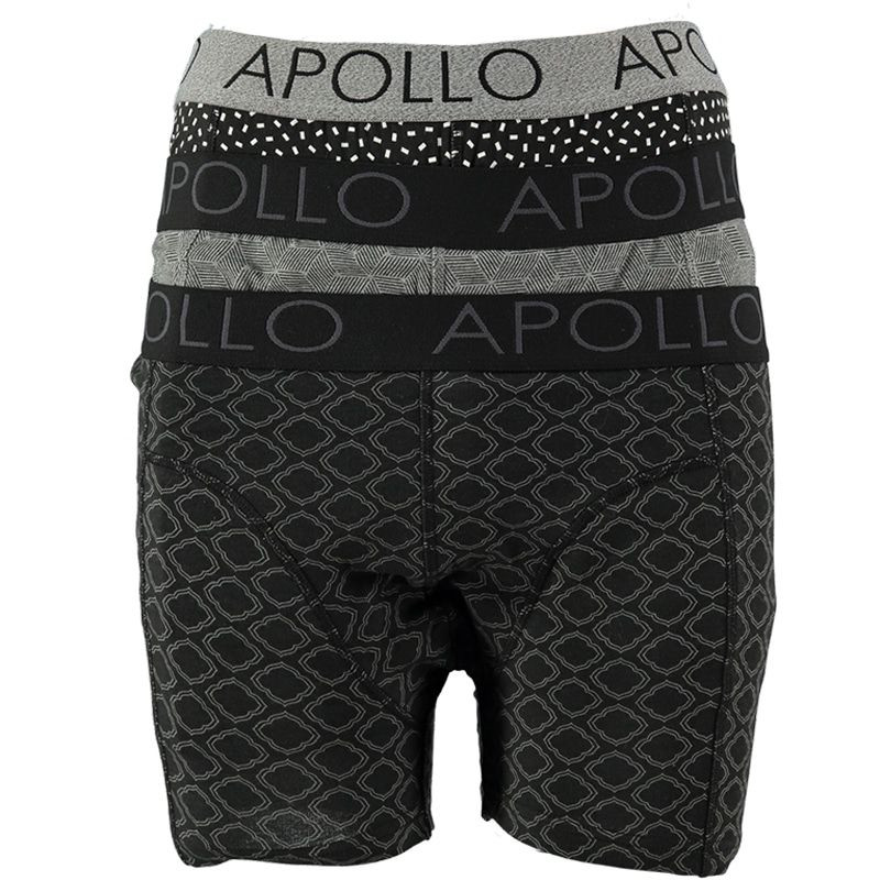 Dagaanbieding - Apollo boxershorts 3-pack Fashion Cotton Multi Black dagelijkse aanbiedingen