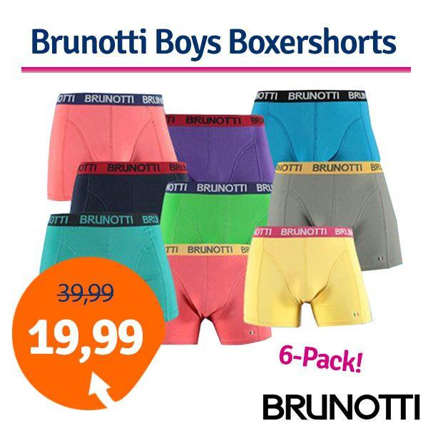 Dagaanbieding - Dagaanbieding Brunotti Boys Boxershorts 6-pack dagelijkse aanbiedingen