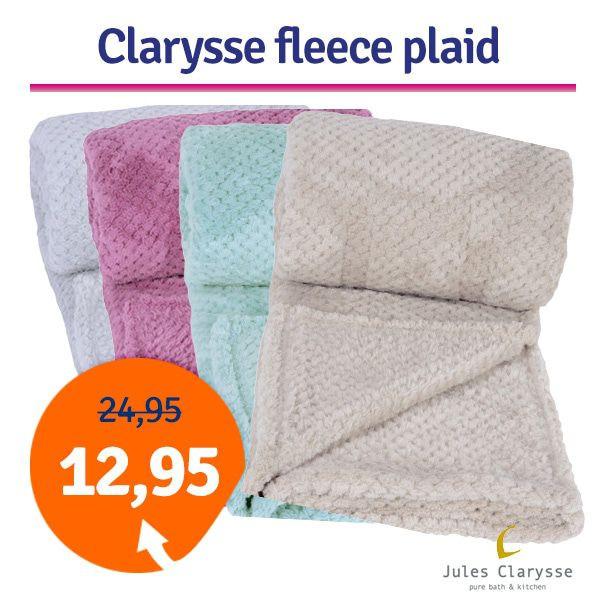 Dagaanbieding - Dagaanbieding Clarysse Soft Coral fleece plaid dagelijkse aanbiedingen