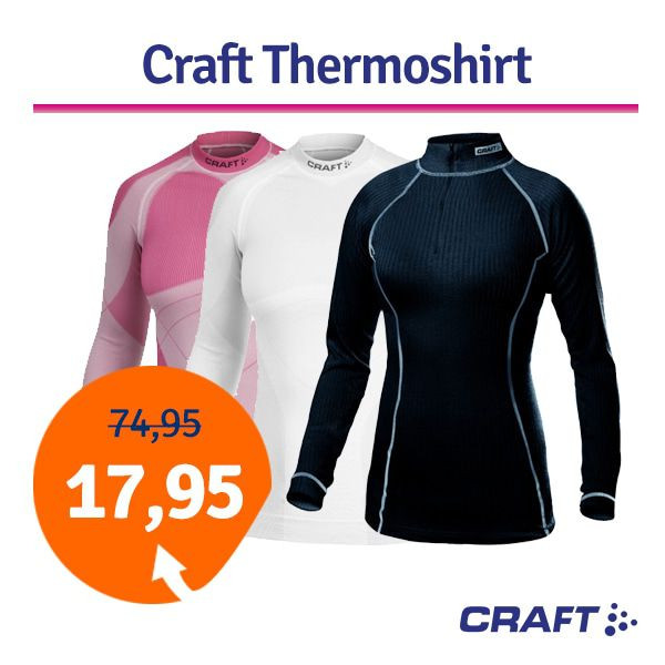 Dagaanbieding - Dagaanbieding Craft thermoshirt dames dagelijkse aanbiedingen